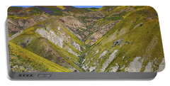 Blanket Of Wildflowers Cover The Temblor Range At Carrizo Plain National Monument Portable Battery Charger