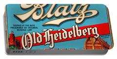 Blatz Old Heidelberg Vintage Beer Label Restored Portable Battery Charger