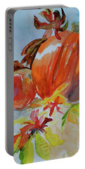 Portable Battery Charger featuring the painting Blazing Autumn by Beverley Harper Tinsley