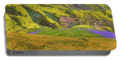 Blazing Star On Temblor Range Portable Battery Charger by Marc Crumpler