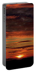 Portable Battery Charger featuring the photograph Blazing Sunset by Bryan Carter