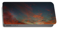 Portable Battery Charger featuring the photograph Blazing Sunset by Mark Blauhoefer