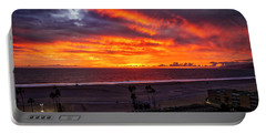 Blazing Sunset Over Malibu Portable Battery Charger