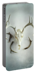 Bleached Stag Skull Portable Battery Charger