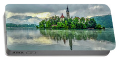 Bled At Sunrise Portable Battery Charger