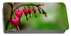 Portable Battery Charger featuring the photograph Bleeding Hearts Flower Of Romance by Debbie Oppermann
