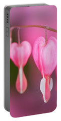 Bleeding Hearts Flowers Portable Battery Charger
