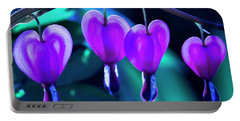 Bleeding Hearts In Moon Light Portable Battery Charger