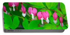 Bleeding Hearts Portable Battery Charger by Tiffany Erdman