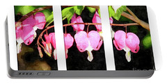 Bleeding Heart Triptych Portable Battery Charger