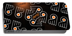Bleeding Orange And Black - Flyers Portable Battery Charger by Trish Tritz