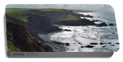 Blegberry Cliffs From Damehole Point Portable Battery Charger by Richard Brookes