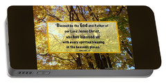Portable Battery Charger featuring the photograph Blessed Be God by Sonya Nancy Capling-Bacle