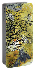 Portable Battery Charger featuring the painting Blessed Is The Man Who Trusts In The Lord by Saribelle Rodriguez