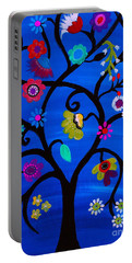 Portable Battery Charger featuring the painting Blessed Tree Of Life by Pristine Cartera Turkus