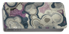 Portable Battery Charger featuring the digital art Blobs - 01c01 by Variance Collections