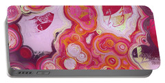 Portable Battery Charger featuring the digital art Blobs - 03v2c7b by Variance Collections