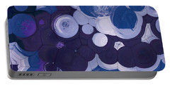 Portable Battery Charger featuring the digital art Blobs - 11c2b by Variance Collections