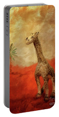 Portable Battery Charger featuring the digital art Block's Great Adventure by Lois Bryan