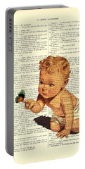 Baby Boy With Butterfly Nursery Art Portable Battery Charger