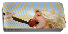 Blonde And Red Apple Portable Battery Charger
