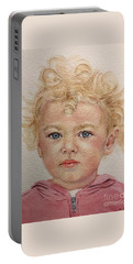 Blonde Girl Portable Battery Charger