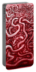 Blood And Guts Portable Battery Charger by Kevin Middleton