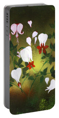 Blood Flower Portable Battery Charger by Tbone Oliver