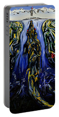 Portable Battery Charger featuring the painting Blood Gulch by Ryan Demaree