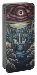 Portable Battery Charger featuring the painting Blood Moon by Cheryl Pettigrew