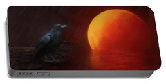 Blood Moon Crow Portable Battery Charger