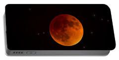 Blood Moon Lunar Eclipse 2015 Portable Battery Charger by Saija  Lehtonen