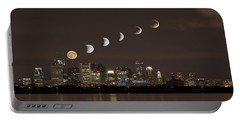 Blood Moon Lunar Eclipse Over Boston Massachusetts Portable Battery Charger