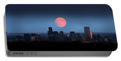 Blood Moon Over Denver Portable Battery Charger
