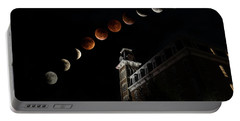 Blood Moon Over Old Main Portable Battery Charger