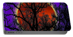Portable Battery Charger featuring the photograph Blood Moon Trees by Barbara Tristan
