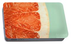 Blood Orange Slice Macro Details Portable Battery Charger by Radu Bercan