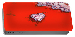 Portable Battery Charger featuring the photograph Blood Red Heart Reef by Az Jackson