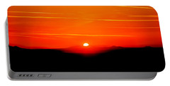 Blood Red Sunset Portable Battery Charger