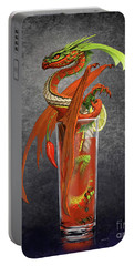 Portable Battery Charger featuring the digital art Bloody Mary Dragon by Stanley Morrison