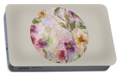 Portable Battery Charger featuring the painting Bloom by Mary Wolf