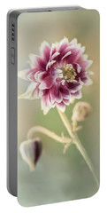 Blooming Columbine Flower Portable Battery Charger