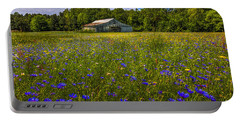 Blooming Country Meadow Portable Battery Charger by Marvin Spates
