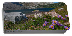 Blooming In Snowy Range Portable Battery Charger