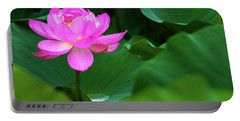 Blooming Pink Lotus Lily Portable Battery Charger