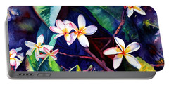 Blooming Plumeria Portable Battery Charger