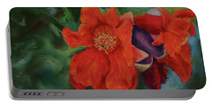 Blooming Poms Portable Battery Charger by Marna Edwards Flavell