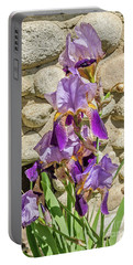 Portable Battery Charger featuring the photograph Blooming Purple Iris by Sue Smith