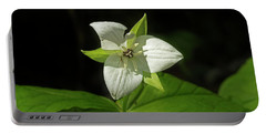 Portable Battery Charger featuring the photograph Blooming Trillium by Mike Eingle