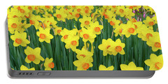 Blooming Yellow Daffodils Portable Battery Charger